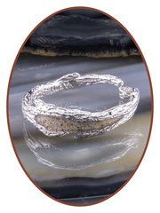 Titanium - Silver Ash Rings