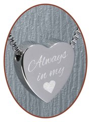 Stainless Steel Engravable Hearth Cremation Pendants