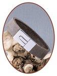 JB Memorials Edelstalen RVS / Leren (As) Armband met vulschroef - ZAS008