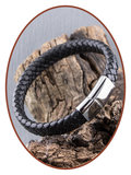 JB Memorials Stainless Steel Leather Cremation Ash Bracelet - ASB025_