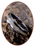 Ceramic Zirconium Cremation Ash Ring (Gold) - TC01G_