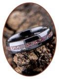 Ceramic Zirconium Cremation Ash Ring (Purple/Pink) - TC01P_