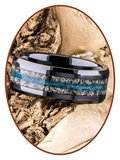 JB Memorials Ceramic Zirconium Special Cremation Ring - RB141A_