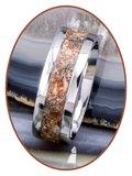 JB Memorials Edelstalen As Ring 'Versteend Hout' - CRA025