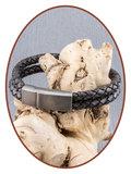 JB Memorials Stainless Steel Vintage Leather Cremation Ash Bracelet - ASB024C_