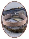 JB Memorials Stainless Steel Leather Ash Bracelet - ZAS014V_