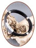 JB Memorials Stainless Steel Leather Ash Bracelet - ZAS014H_