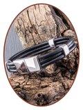 JB Memorials Stainless Steel Leather Ash Bracelet - ZAS014HA_