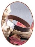 JB Memorials Stainless Steel Leather Ash Bracelet - ZAS014ANT_