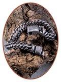 Stainless Steel Mens Engravable Cremation Vintage Ash Bracelet  - AB401_