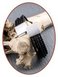 JB Memorials Stainless Steel Leather Ash Bracelet - VAS008_