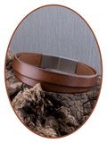 JB Memorials Stainless Steel Leather Ash Bracelet - VAS007_