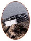 JB Memorials Stainless Steel Leather Beads Ash Bracelet - VAS009_