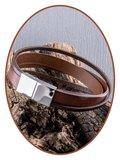 JB Memorials Stainless Steel Italian Leather Ash Bracelet - ZAS019_