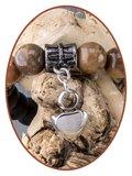 JB Memorials Frosted Agate Bronzite Ash Bracelet - KHA022_