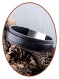 JB Memorials Stainless Steel Special Leather Cremation Ash Bracelet - ZAS057_