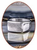 Stainless Steel (Fingerprint) Cremation Signet Ring - ZRA001_