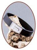 JB Memorials Stainless Steel Leather Ash Bracelet - ZAS008_