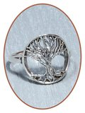 JB Memorials 925 Sterling Silver 'Tree of Life' Cremation Ring - RB106_