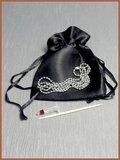 Stainless Steel 'Zirconia' Cremation Pendant - B248_