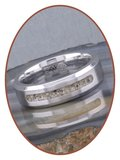 JB Memorials Cobalt Chrome Heren As Ring - RB045CCM