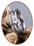 JB Memorials Natureline Abalone Shell Tungsten Cremation Ash Ring - WR008_