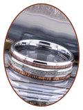 JB Memorials Exclusive Natureline Wood Tungsten As Ring - WR014