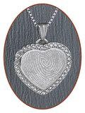 Stainless Steel Engraving Remembrance Pendant - 3333SS_