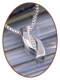 Edelstalen/RVS 'Zirconia' Design Ashanger - B419