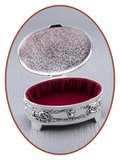 Memory Box / Mini Urn 'Oval' - M389_
