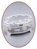Graveerbare Memory Box / Mini Urn 'Oval' - M389