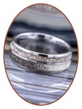 JB Memorials Natureline / Tungsten Cremation Ring with Deer Antler Inlay - WR014_
