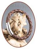 JB Memorials Edelstalen RVS / Leren Heren As Armband met vulschroef - ZMA234S