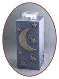 Mini / Midi As Urn 'Moon & Stars' met Theelicht Houder - HM287MS