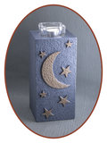 Mini Ash Urn 'Moon & Stars' with Tealight Holder - HM287MS_