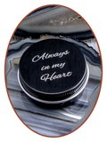 Aluminium Cremation Ash-remembrance-box Black - AL003_