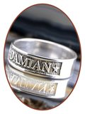 JB Memorials 925 Sterling Silver Name Remembrance Ring - RB067N_