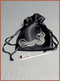Stainless Steel 'Horseshoe' Heart Cremation Pendant - B304NE_