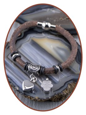 Vintage Leather Ladies Cremation Ash Bracelet  - ZMA244V
