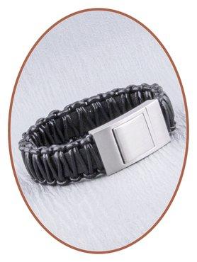 JB Memorials Stainless Steel Leather Special Cremation Ash Bracelet - ZAS050