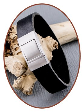 JB Memorials Stainless Steel Leather Special Cremation Ash Bracelet - ZAS058