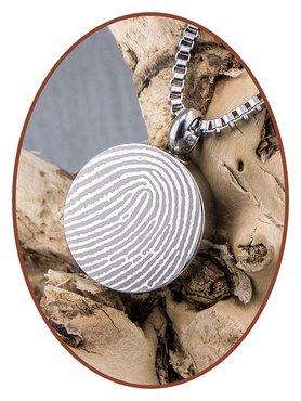 Stainless Steel Fingerprint Cremation Pendant - B420V