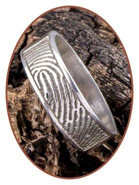 JB Memorials 925 Sterling Silver Fingerprint Remembrance Ring - RB067VA