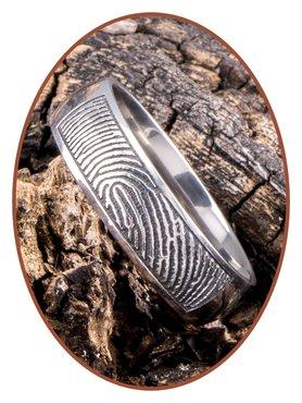 JB Memorials Titanium Fingerprint Remembrance Ring - TIR001