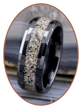 JB Memorials Ceramic Zirconium Special Cremation Ring - RB141