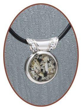 Rhodium/Silver JB's Memorials Design Ash / hairlock pendant - ZR004
