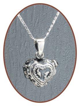 925 Sterling Silver 'Heart' Ash Medaillon  - ZSP021