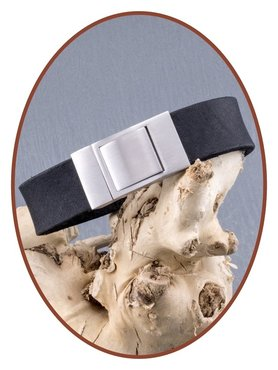 JB Memorials Stainless Steel Leather Special Cremation Ash Bracelet - ZAS001