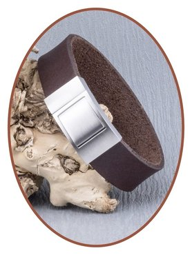 JB Memorials Stainless Steel Leather Special Cremation Ash Bracelet - ZAS009