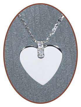 925 Sterling Silver 'Heart' Engraving Pendant - ZG01